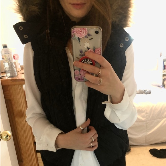 Guess Jackets & Blazers - GUESS Black Puffy Vest